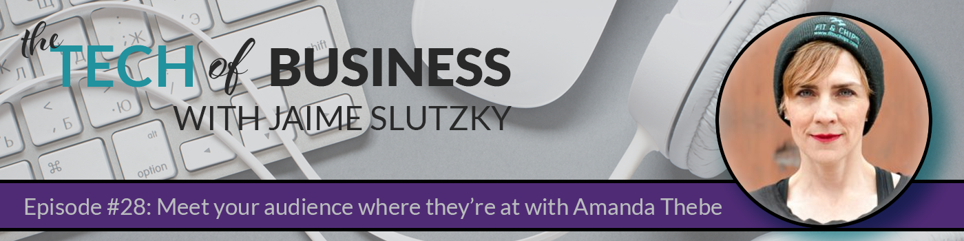 Episode #28: Meet your Audience Where They're at with Amanda Thebe